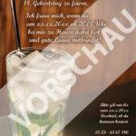 Einladungskarte 18. Geburtstag Cocktailparty: Rückseite