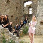 Junggesellinenabschied auf der Burgruine
